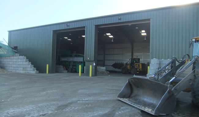 biomass wood fuel recycling facility