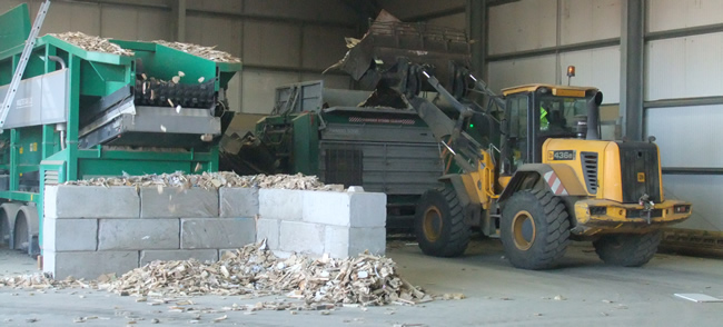 state of the art wood recycling facility